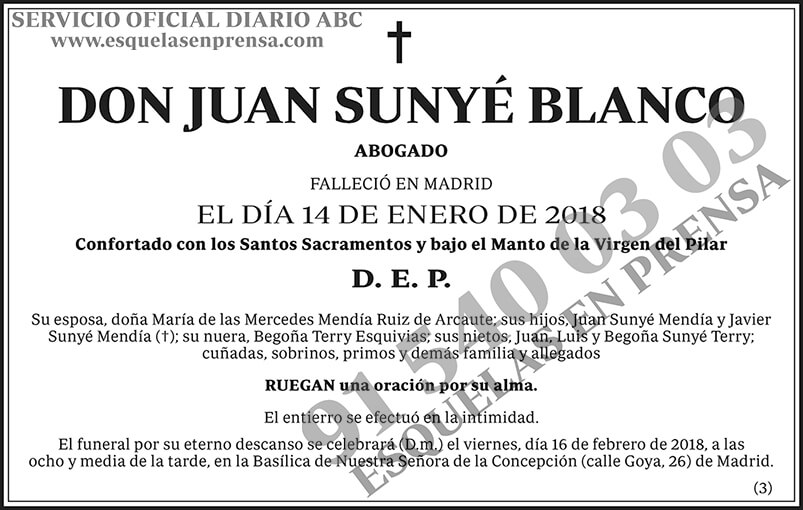 Juan Sunyé Blanco